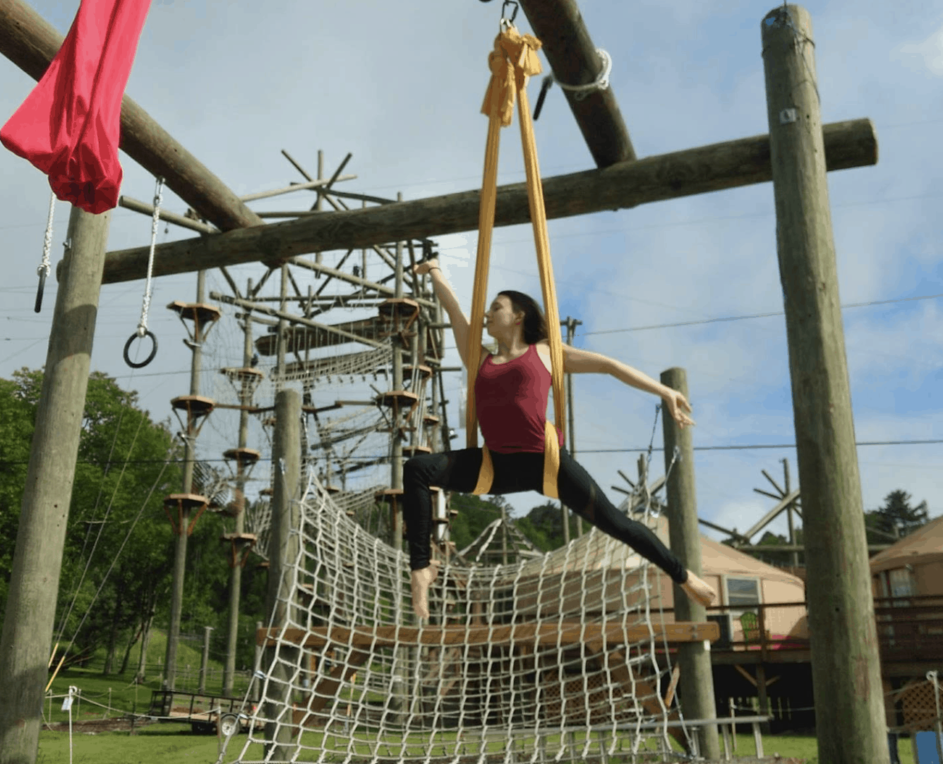 Aerial Silks Class at High Gravity Adventures