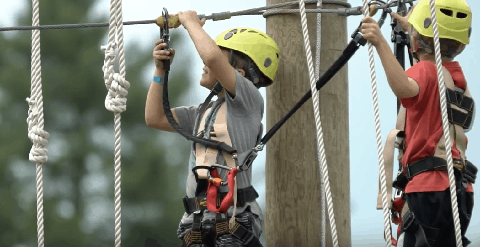 Kids on Foothills Course at High Gravity Adventures