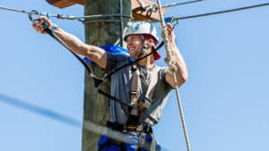Man in Challenge Course/Aerial Park